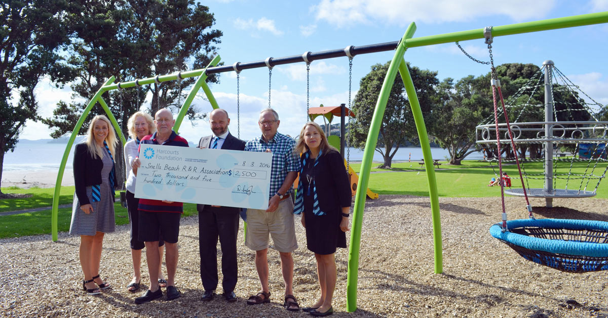 Snells Beach playground Upgrades with Harcourts Foundation